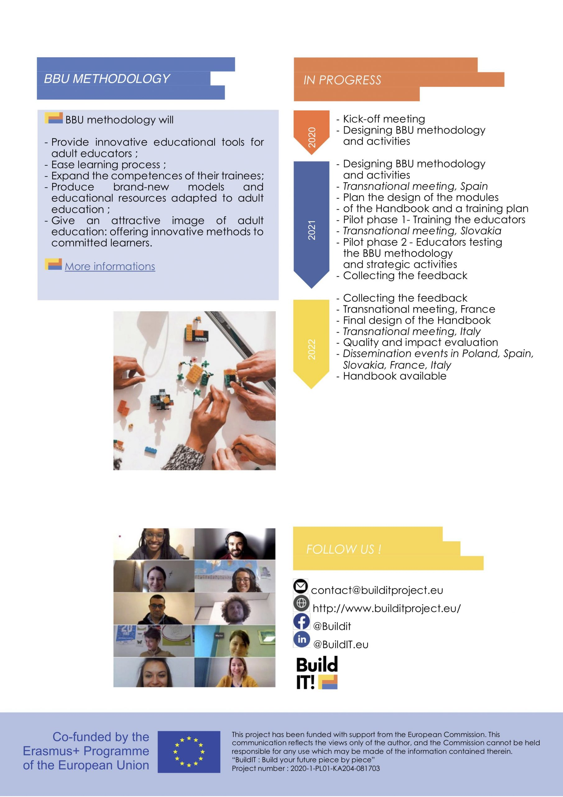 1st newsletter of the BuildIT project – adult education – innovative methodology 2
